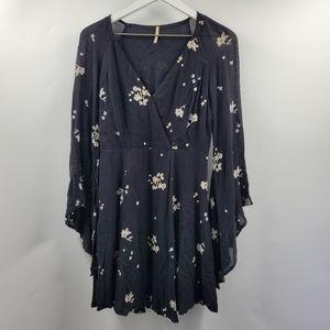Free People Jasmine Floral Embroidered Mini Dress